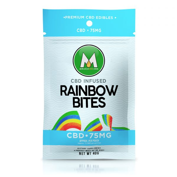 Miracle CBD Gummies - Infused Rainbow Bites - 75mg