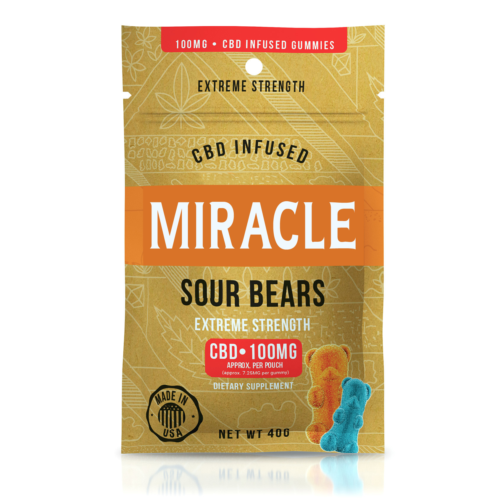Miracle Gummies - CBD Infused Sour Bears