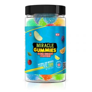 Miracle Gummies 750mg - CBD Infused Sour Poppers