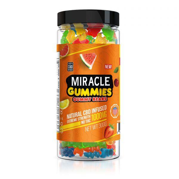 Miracle Gummies 1000mg - CBD Infused Gummy Bears